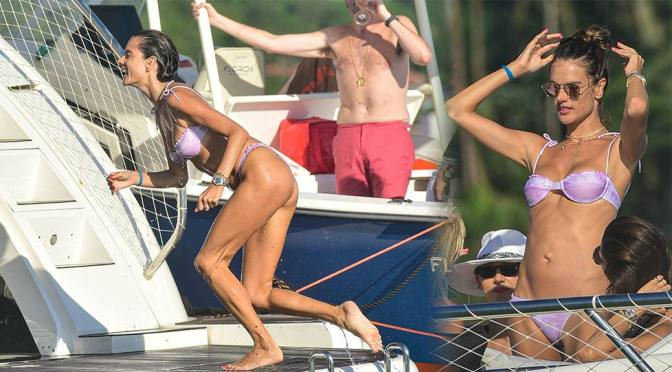 Alessandra Ambrosio – Sexy Body in Bikini on a Yacht in Florianopolis
