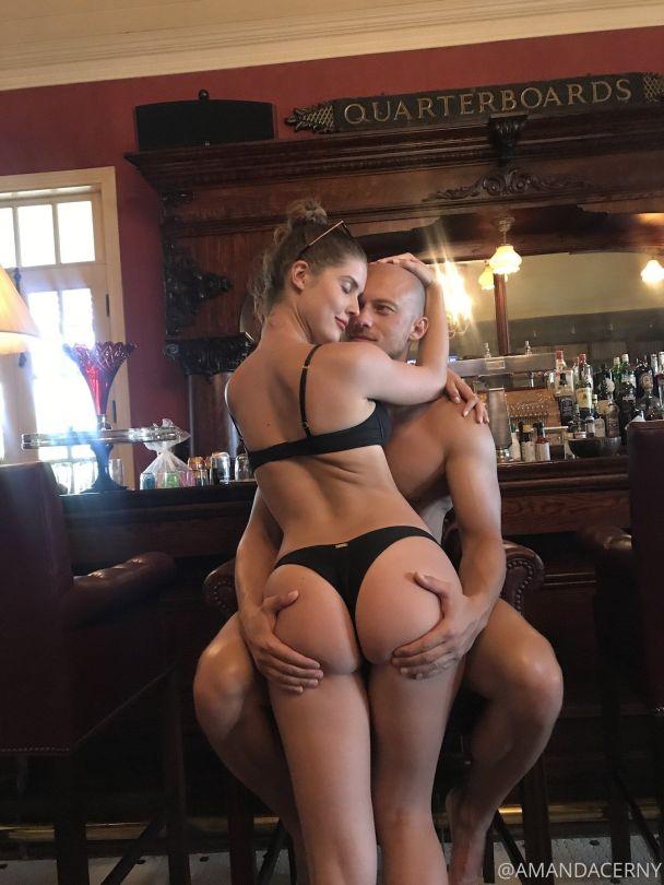 Amanda Cerny Perfect Ass In Black Thong