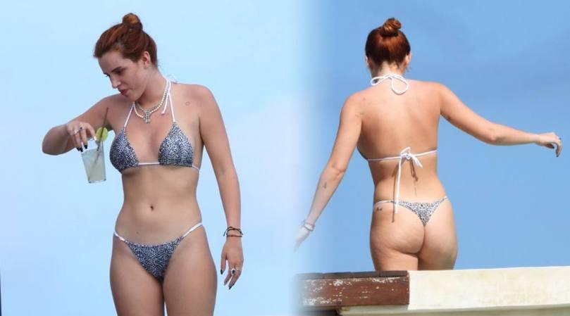 Bella Thorne Hot Boobs And Ass In Thong Bikini