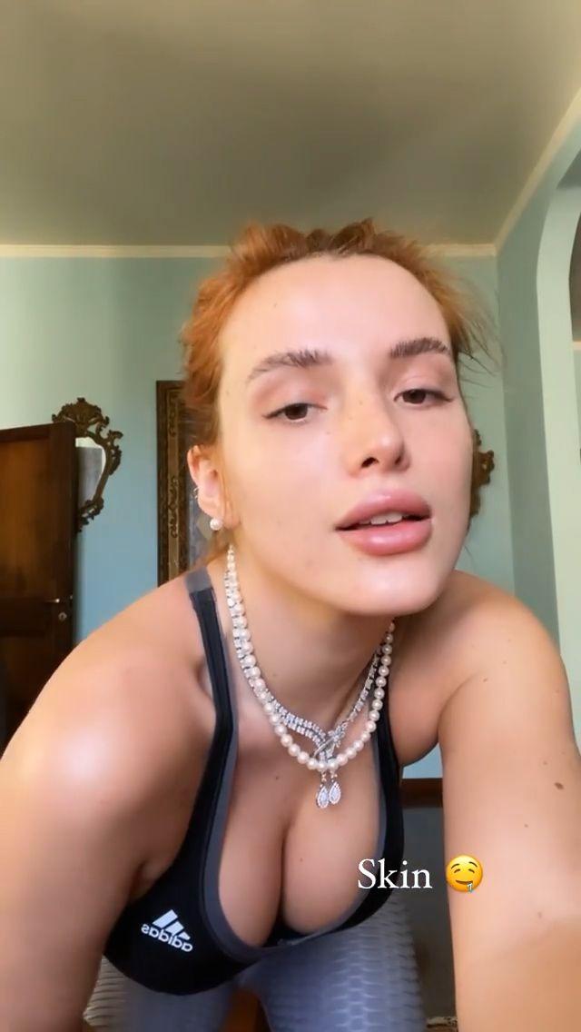Bella Thorne Sexy In Sports Bra