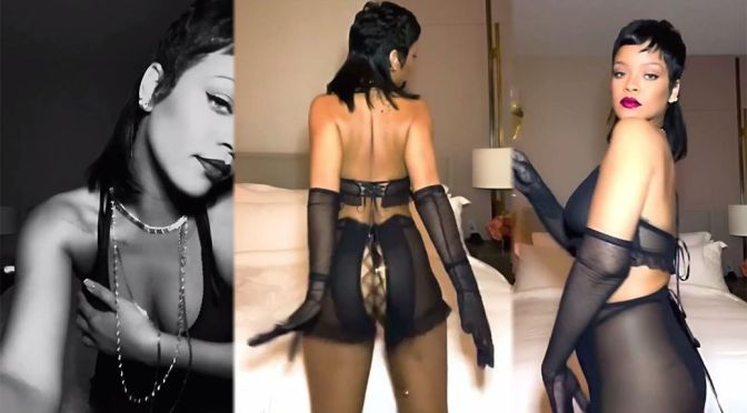 Rihanna – Sexy Body in Racy Lingerie for Cupid Day Countdown Video