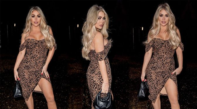 Bianca Gascoigne – Hot Body in a Sexy Revealing Dress Out in London