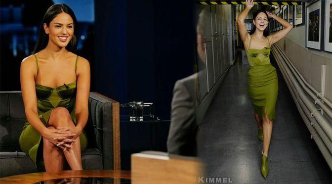 Eiza Gonzalez – Beautiful in Sexy Dress on the Jimmy Kimmel Live in Los Angeles