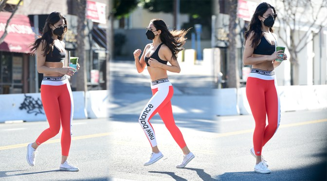 Eiza Gonzalez – Alluring Body in a Tiny Sports Bra Out in West Hollywood