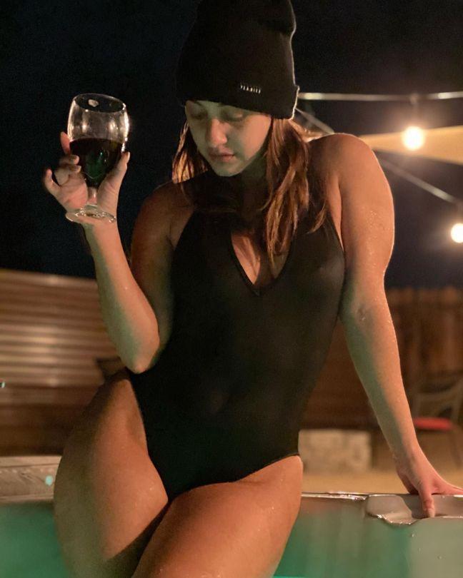 Francia Raisa Sexy In Swimsuit