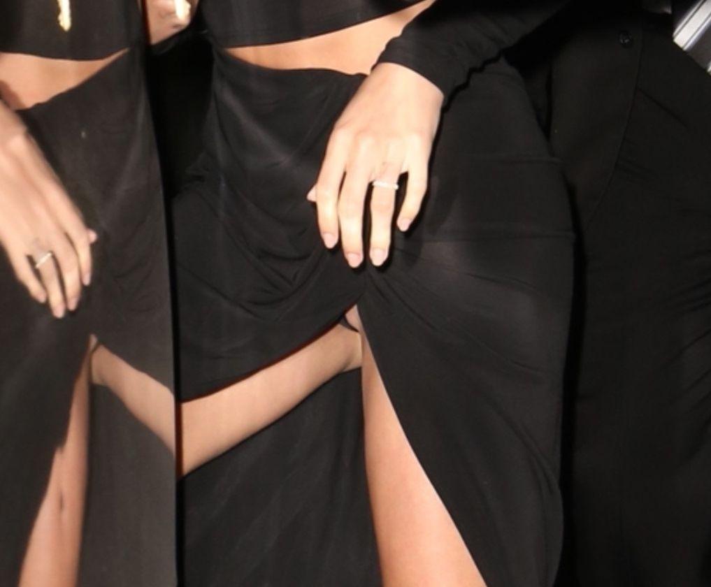 Hailey Bieber Sexy Upskirt