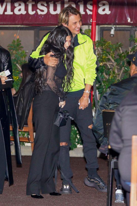 Kourtney Kardashian In Sheer Top