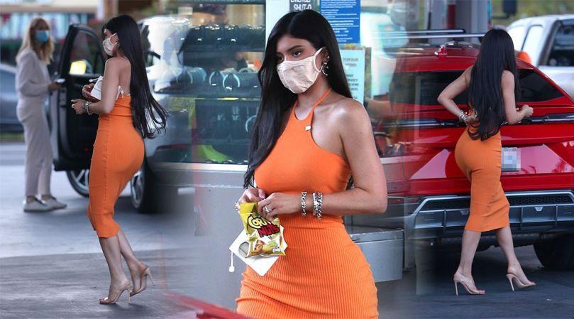 Kylie Jenner Sexy Ass In Dress