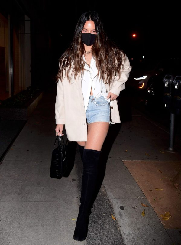 Olivia Munn In Boots And Shorts