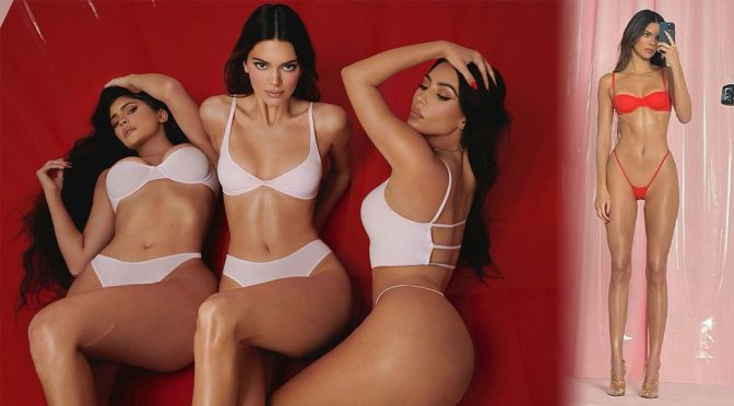 Kendall Jenner, Kylie Jenner & Kim Kardashian – Sexy Bodies in a Hot Photoshoot for SKIMS