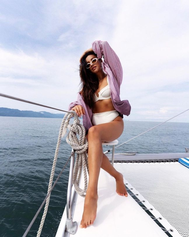 Shay Mitchell Beautiful On A Boat