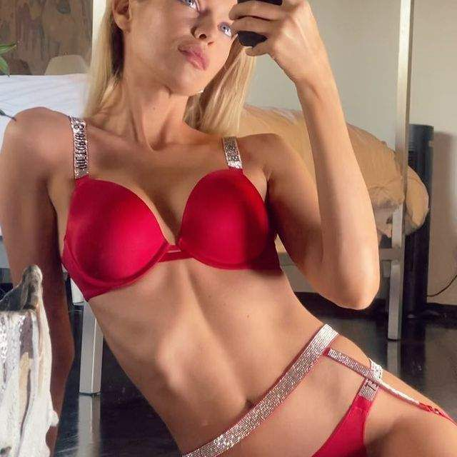 Stella Maxwell In Red Bikini