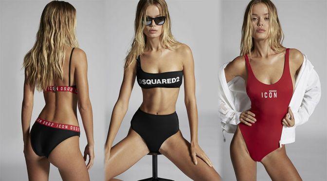 Frida Aasen – Perefect Body in Bikini for Dsquared2 Swimwear 2021 Photoshoot