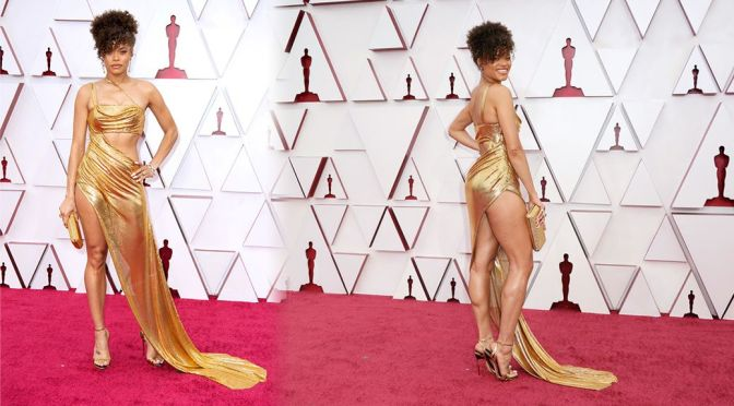 Andra Day – Stunning Body in a Sexy Dress at 93rd Annual Academy Awards in Los Angeles