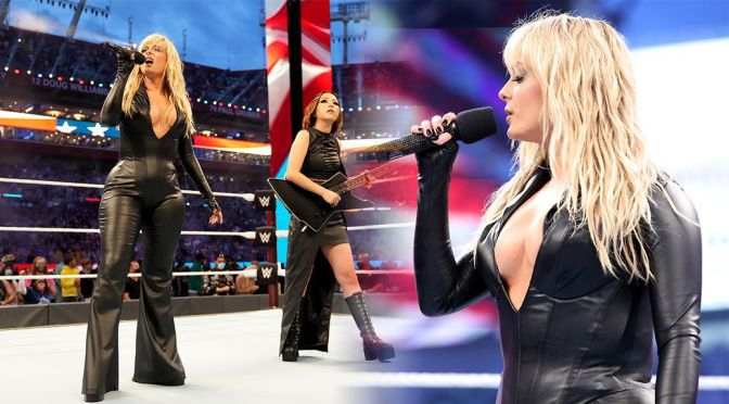 Bebe Rexha – Gorgeous Curvy Body at Wrestlemania 37 in Tampa