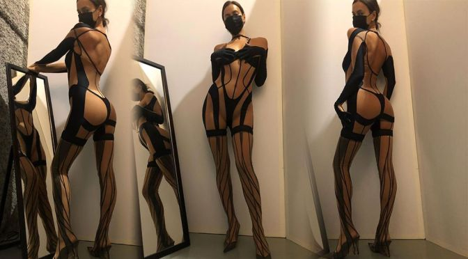 Irina Shayk Wears Only a Mask and Other Sexy Links!