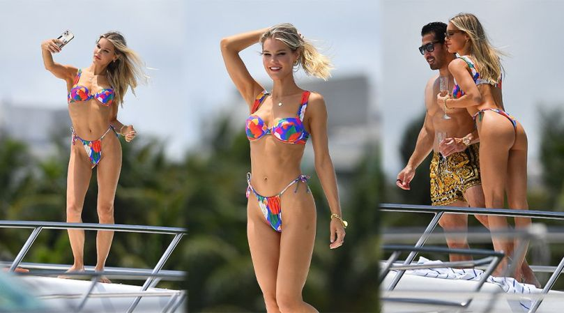 Joy Corrigan Stuning Body In Thong Bikini