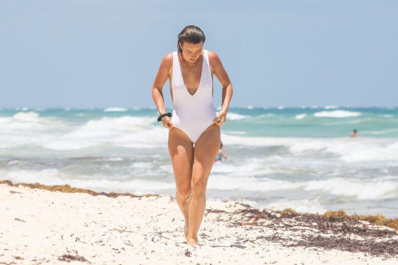 Julianne Hough In White Swimsuit