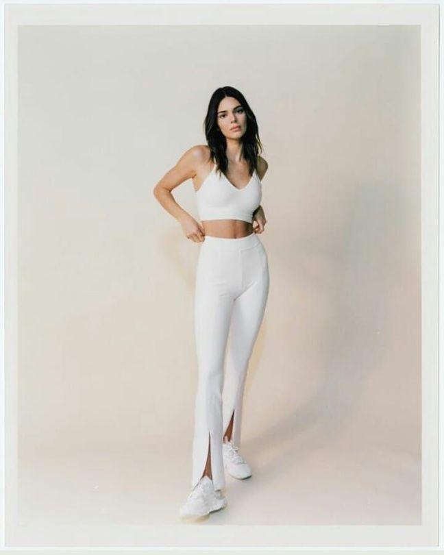 Kendall Jenner In White Leggings