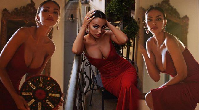 Madalina Diana Ghenea Gorgeous In Red Dress