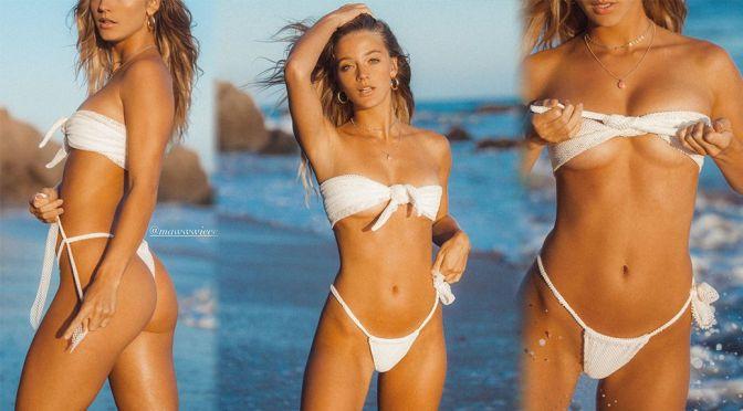 Marie Tomas – Stunning Body in a Sexy White Bikini