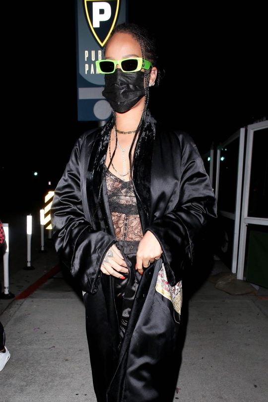Rihanna In Sheer Bra