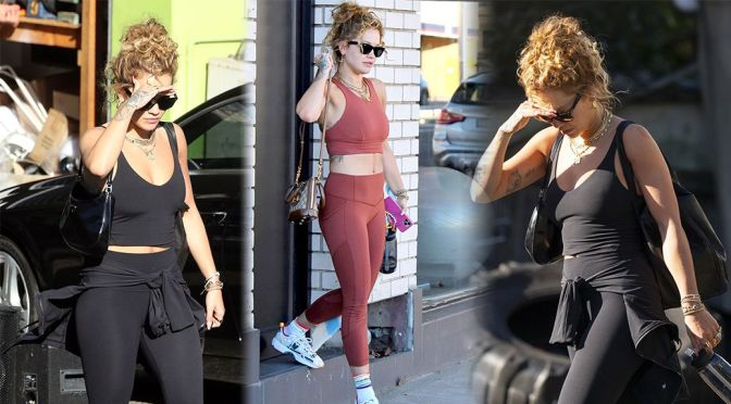 Rita Ora – Sexy Body in Gym Outfit Out in Sydney