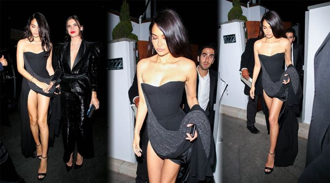 Shanina Shaik – Stunning Legs in a Sexy Dress at Oscars Afterparty in Bel Air