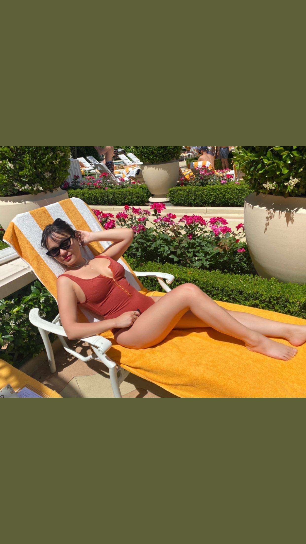 Stella Hudgens In Swimsuit