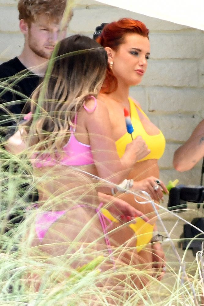 Bella Thorne Sexy Yellow Bikini