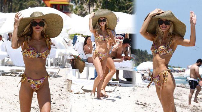 Joy Corrigan – Beautiful Body in a Sexy Bikini on the Beach in Miami