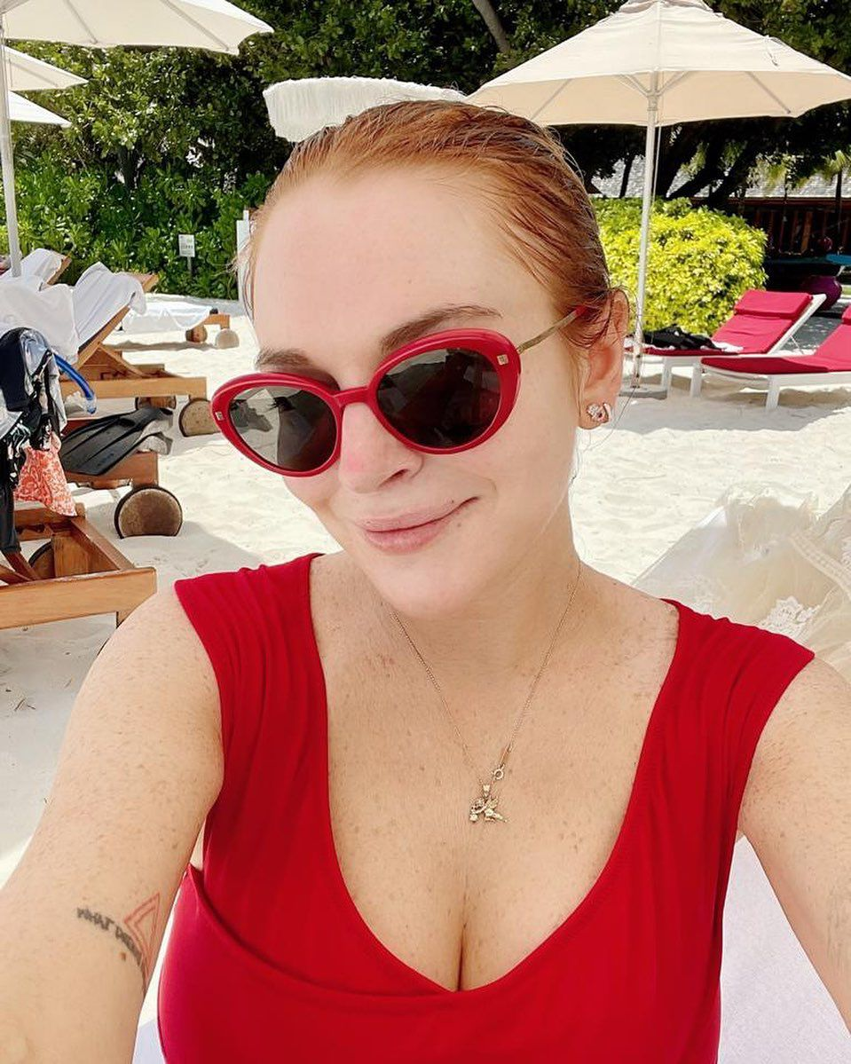 Lindsay Lohan Sexy Cleavage