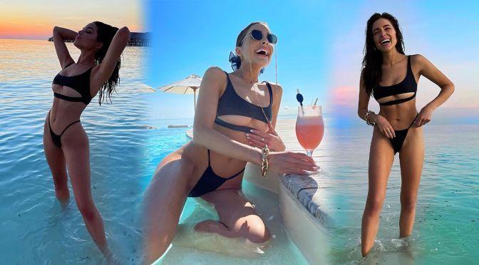 Olivia Culpo – Gorgeous Body in a Tiny Black Bikini