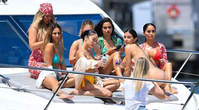 Shanina Shaik – Beautiful Body in Bikini on a Yacht in Los Angeles