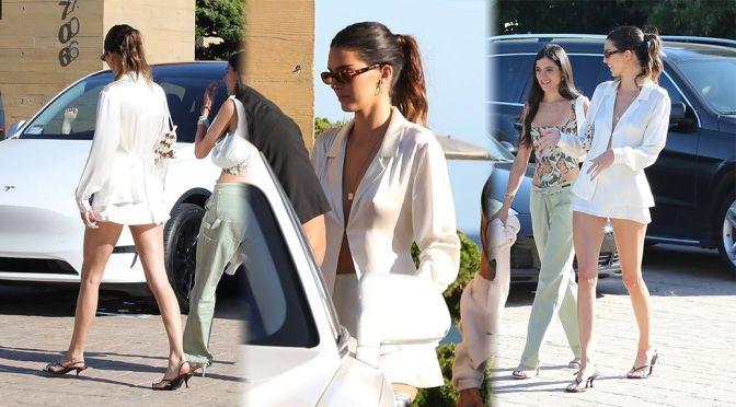 Kendall Jenner – Gorgeous Long Legs in Mini Skirt at Soho House in Malibu