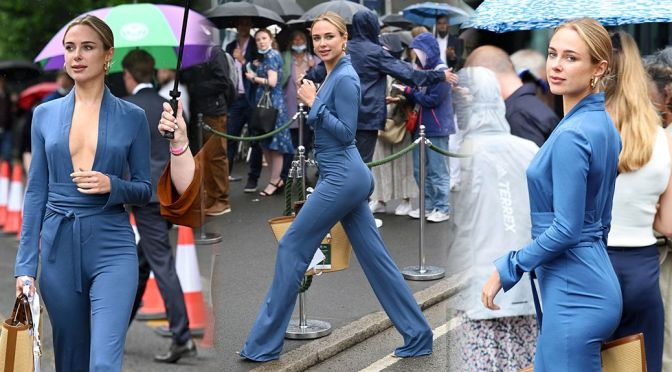 Kimberley Garner – Magnificent Ass in Tight Outfit at Wimbledon in London