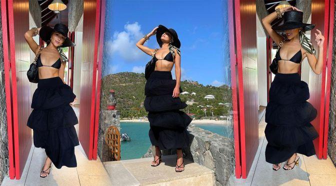 Olivia Culpo – Gorgeous in Tiny Bikini Top