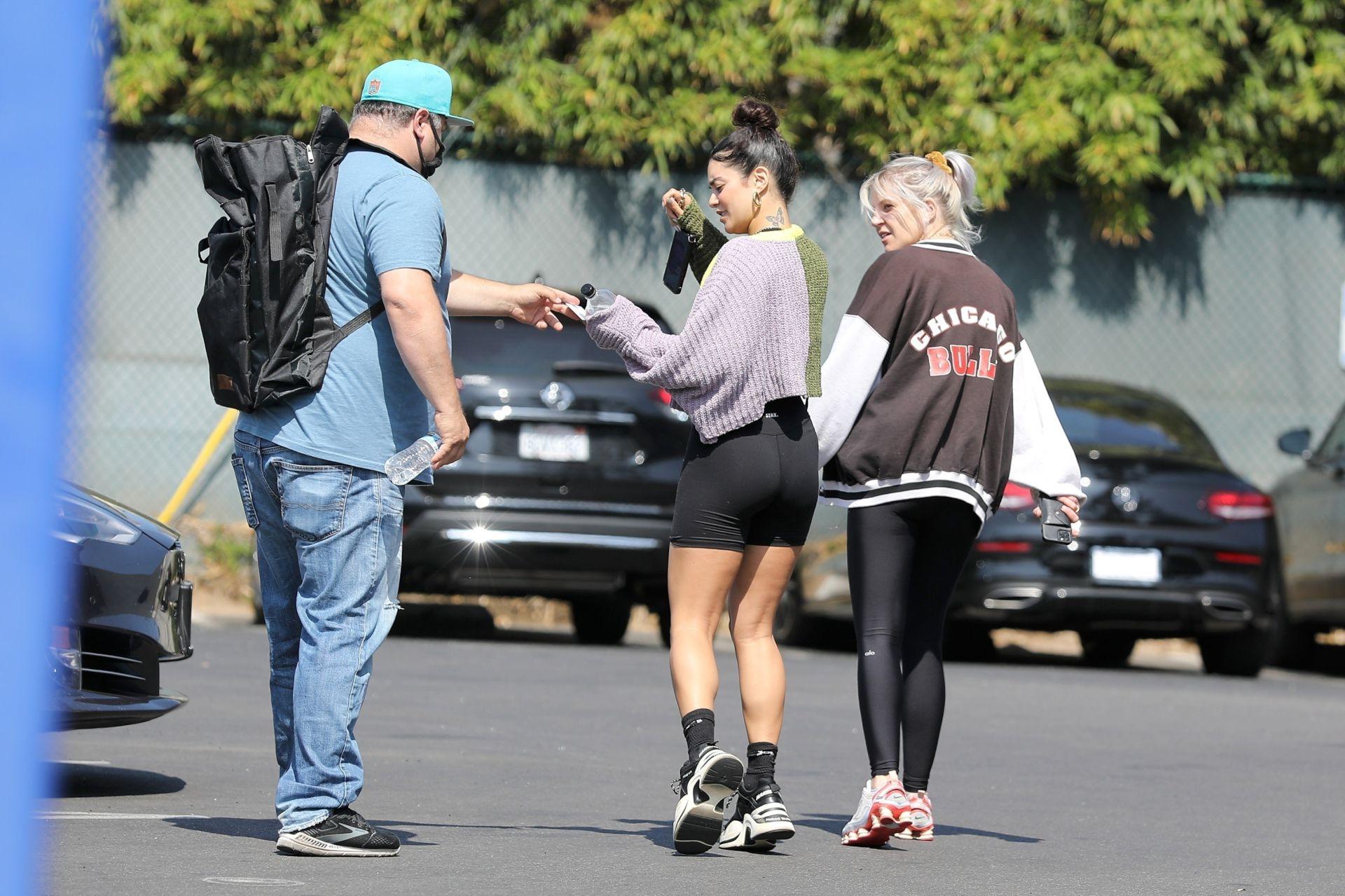 Vanessa Hudgens In Short Leggings