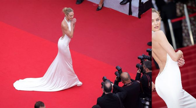 """Candice Swanepoel – Stunning Body in a Sexy Dress at """"Tout S'est Bien Passe"""" Premiere in Cannes"""