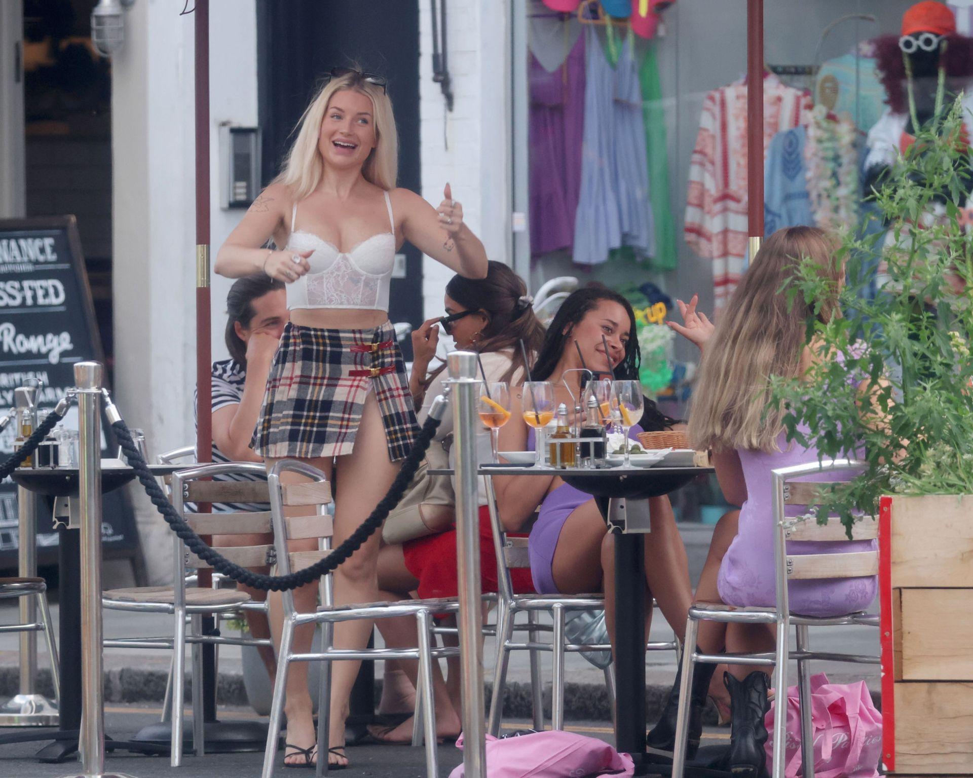 Lottie Moss In Mini Skirt