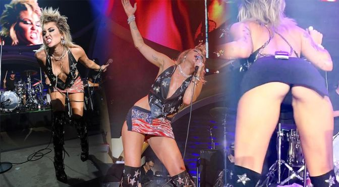 Miley Cyrus – Sexy Boobs and Ass in a Racy Performance at Resorts World Las Vegas