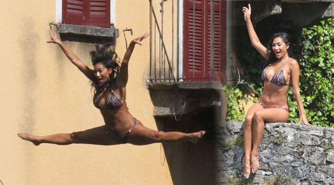 Nicole Scherzinger – Gorgeous Big Boobs in Bikini in Italy