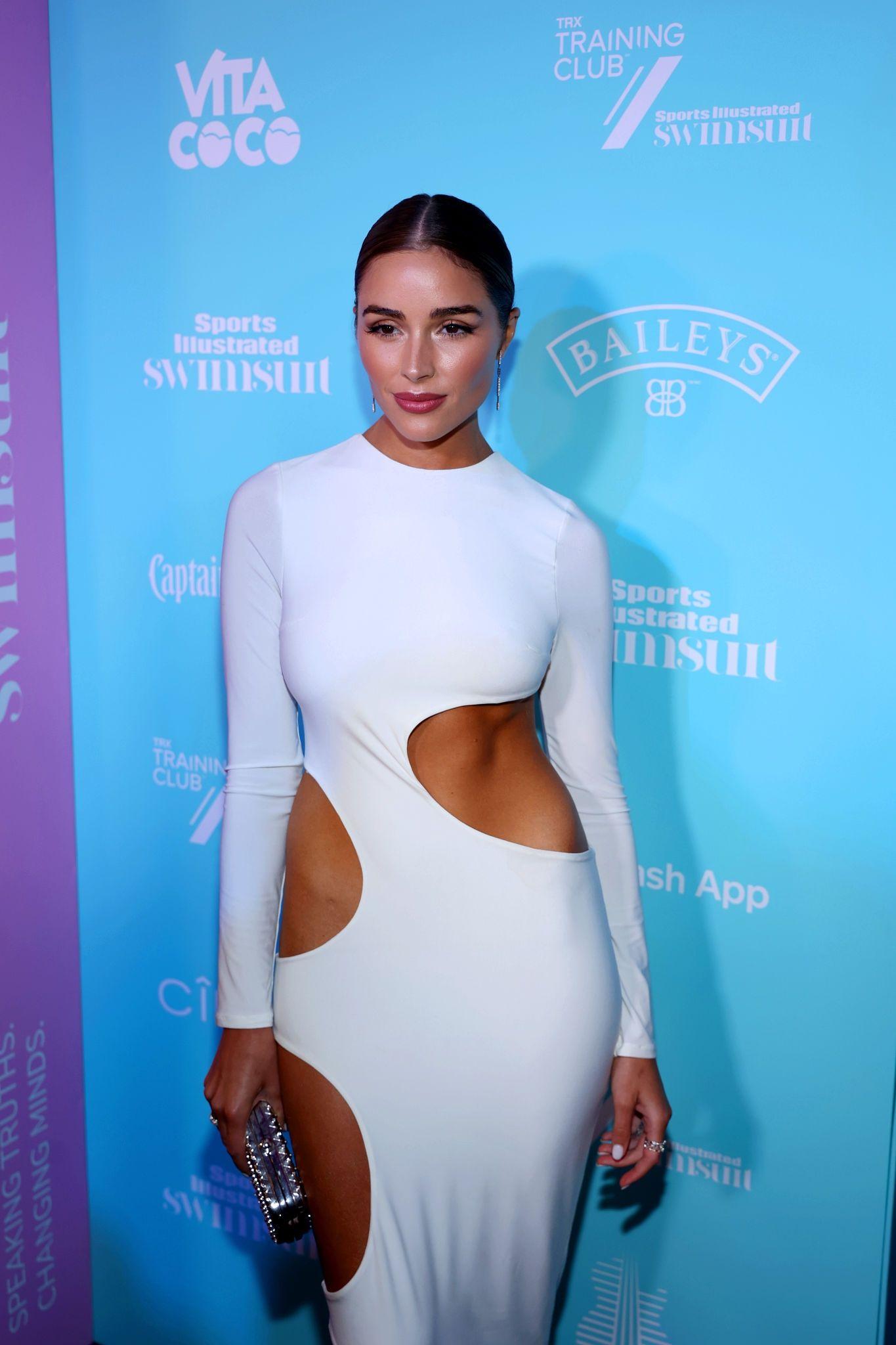 Olivia Culpo Gorgeous White Dress