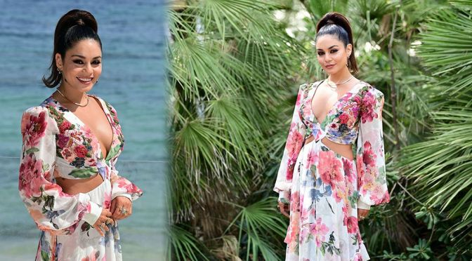 """Vanessa Hudgens – Gorgeous Cleavage at """"Filming Italy"""" Festival photocall in Santa Margherita di Pula"""