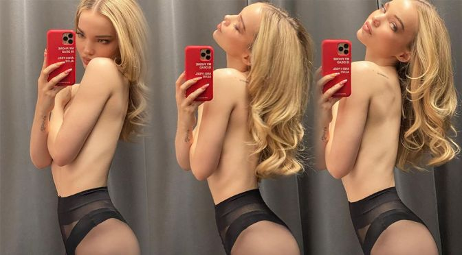 Dove Cameron – Sexy Body in a Topless Selfies & Video