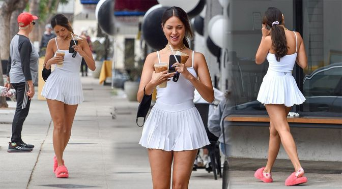 Eiza Gonzalez – Fantastic Legs in a Mini Skirt Out in West Hollywood