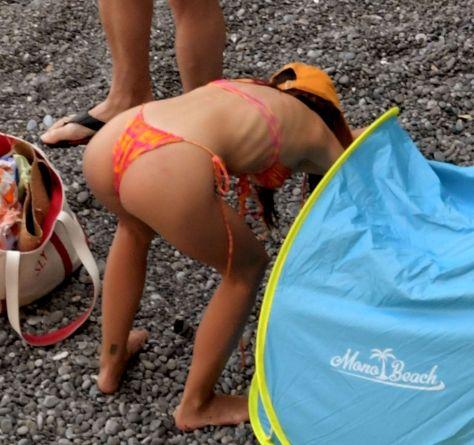 Emily Ratajkowski In Thong Bikini