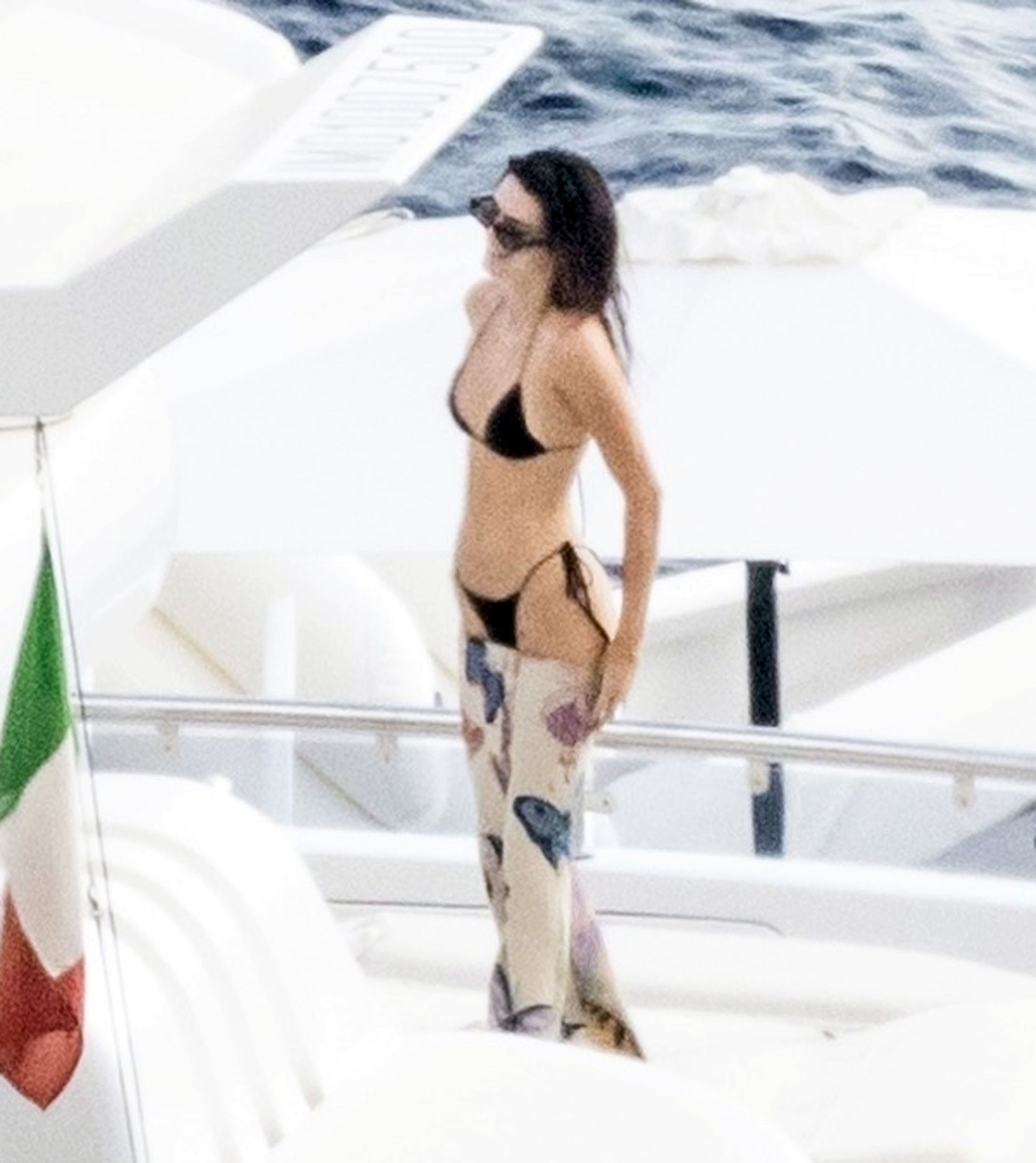 Kendall Jenner Tiny Black Bikini