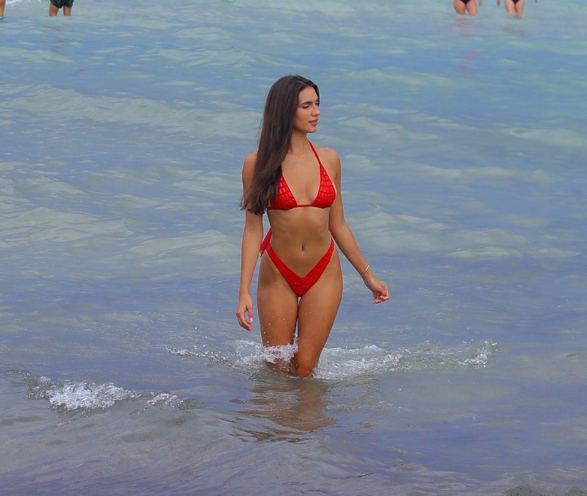 Tao Wickrath Sexy In Red Bikini