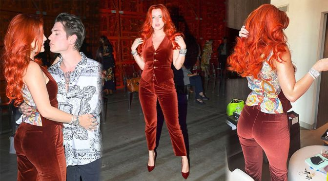 Bella Thorne – Sexy Ass in Tight Pants at Etro Fashion Show in Milan
